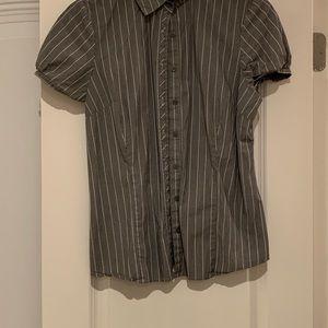 button down gray shirt